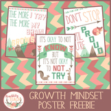 Woodland Growth Mindset Posters FREEBIE
