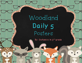 Daily 5 Posters  Woodland/Hipster