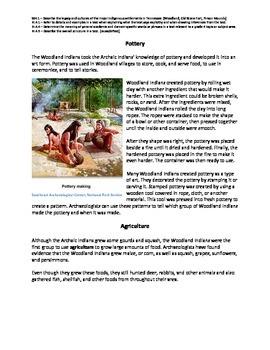 Woodland Indians nonfiction passage and practice