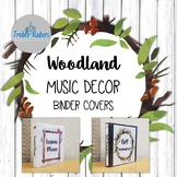 Woodland / Forest Music Decor- Binder Covers
