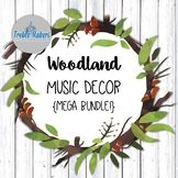 Woodland / Forest Music Decor- Mega Bundle!