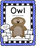 Woodland Owl Craftivity and Printables