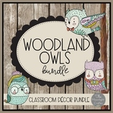 Woodland Owls Classroom Decor Bundle with Editable Features