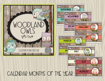 Woodland Owls Classroom Decor Set 2