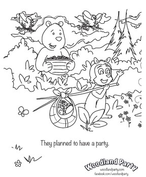 Woodland Party - Coloring Book