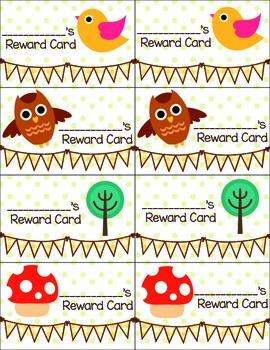 Woodland Reward Punch Card