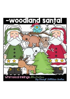Woodland Santa Clipart Collection