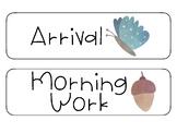 Woodland Schedule Cards