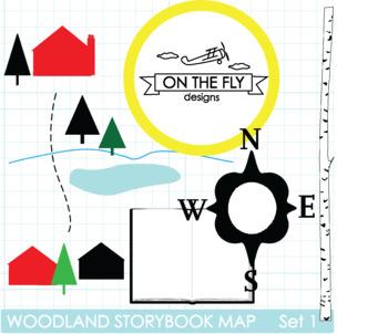 Woodland Storybook Map