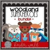 Woodland Superhero Classroom Decor Growing Bundle