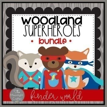 Woodland Superhero Classroom Decor Bundle