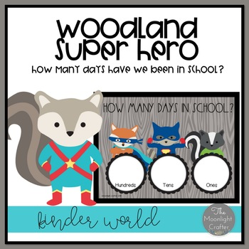 Woodland Superhero Days in School Freebie