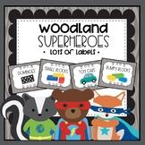 Woodland Superhero Theme MEGA Set of Labels