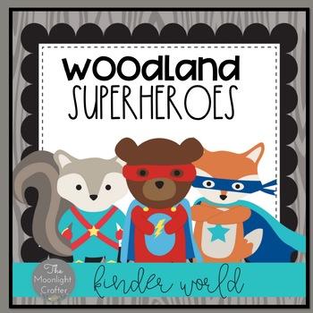 Woodland Superhero Themed Decor