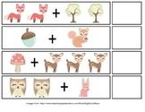 Woodland Theme Addition File Folder Games (Sums 0-10)