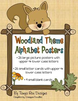 Woodland Theme Alphabet Posters