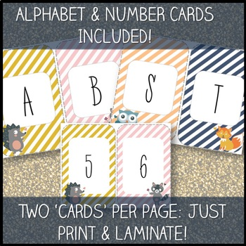 Woodland Theme Classroom Decor Pack w/ [EDITABLE] labels & binder covers!