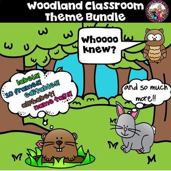 Woodland Theme Classroom Decor with **EDITABLE TEMPLATES**