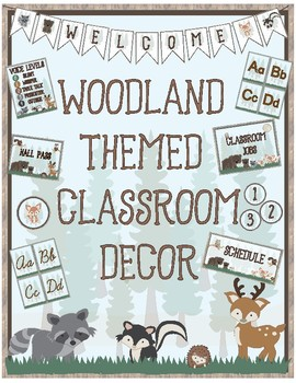 Woodland Theme - Classroom Decoration - All in One Bundle UPDATED***EDITABLE