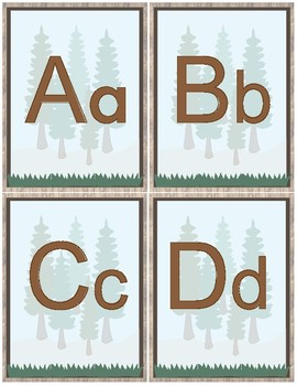 Woodland Theme Classroom Decoration - Alphabet