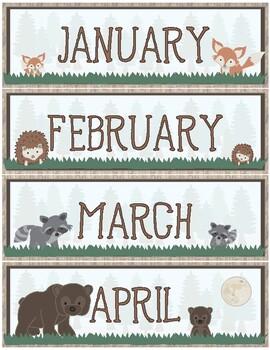 Woodland Theme - Classroom Decoration - Calendar