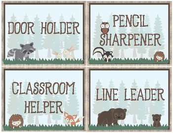 Woodland Theme - Classroom Decoration - Classroom Jobs