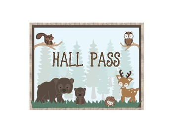 Woodland Theme - Classroom Decoration - Hall Pass