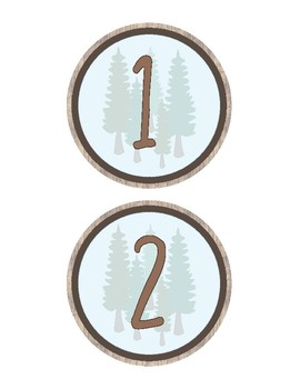 Woodland Theme - Classroom Decoration - Numbers