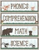 Woodland Theme - Classroom Decoration - Schedule