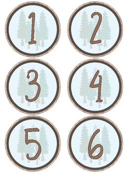 Woodland Theme - Classroom Decoration - Table Labels, Name Tags & Border