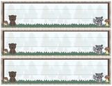 Woodland Theme - Classroom Decoration - Table Labels, Name