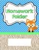 Homework Folder - Woodland Theme