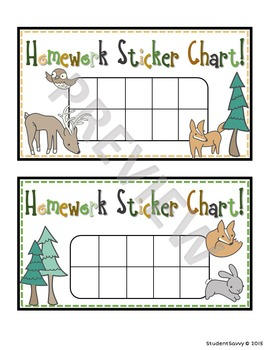 Woodland Theme Classroom - Punch Cards!