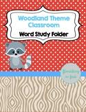 Word Study Folder - Woodland Theme