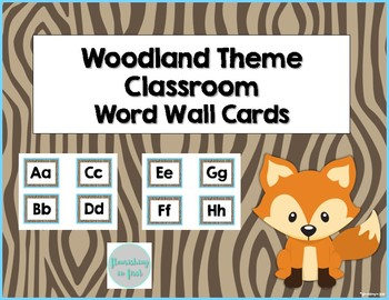 Word Wall Cards - Woodland Theme