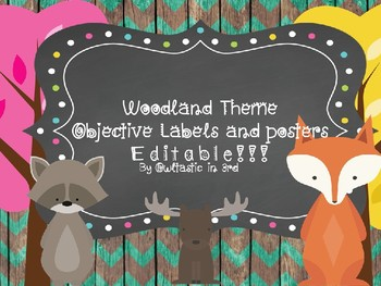 Woodland Theme Objectives and Editable Standard Posters