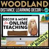 Woodland Theme | Online Teaching Backdrop | Google Classro