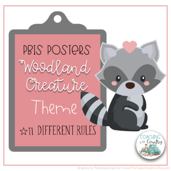 Woodland Theme PBIS Posters