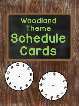 Woodland Theme Schedule Cards