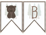 Woodland Theme Welcome Banner ~ French ~ Bienvenue