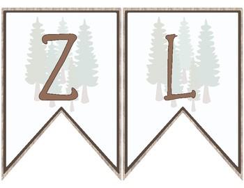 Woodland Theme Welcome Banner ~ German ~ Herzlich Willkommen