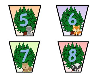 Woodland Theme book bin labels
