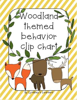 Woodland-Themed Behavior Clip Chart
