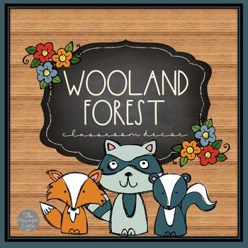 Woodland Themed Classroom Decor Set