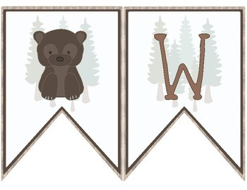 Woodland Themed Classroom Decoration - Welcome Banner