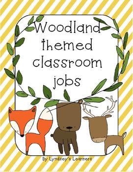 Woodland-Themed Classroom Jobs