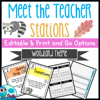 Woodland Themed - Meet the Teacher Night