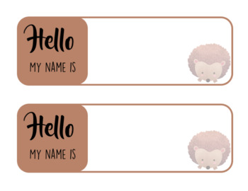 Woodland Themed - Name Plates