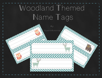 Woodland Theme Classroom Name Tags