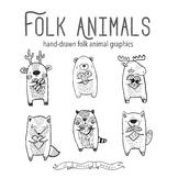 Woodland Valentine Animals, Valentine Clip Art, Folk Clip Art, Woodland Clipart